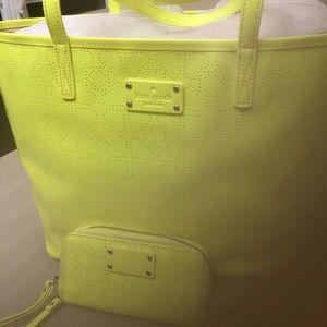 Kate Spade Med Harmony Metro Tote & Wallet Yellow
